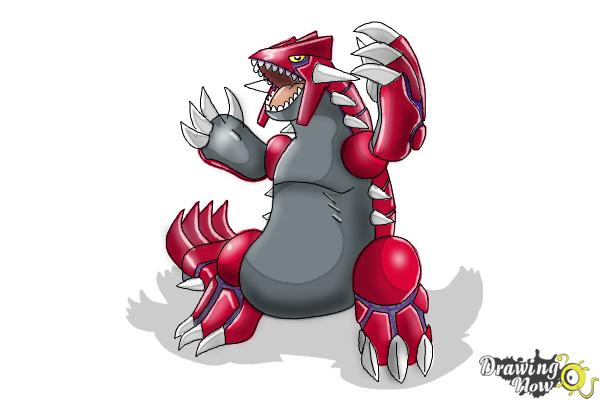 How to Draw Groudon from Pokemon - Step 9