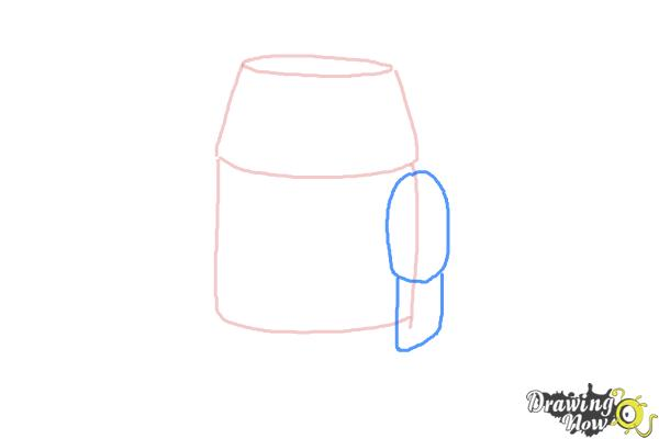 How to Draw Chopper, Grumpy Astromech Droid from Star Wars Rebels - Step 3
