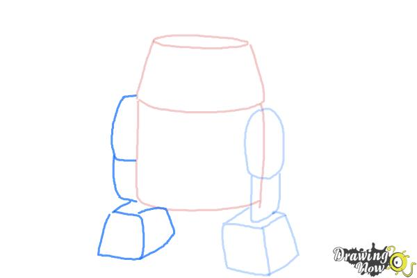 How to Draw Chopper, Grumpy Astromech Droid from Star Wars Rebels - Step 5
