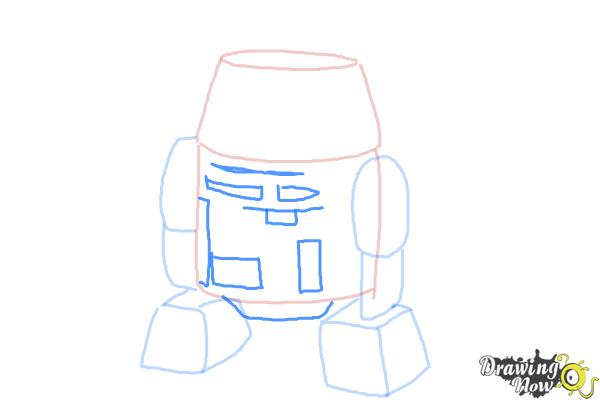 How to Draw Chopper, Grumpy Astromech Droid from Star Wars Rebels - Step 6