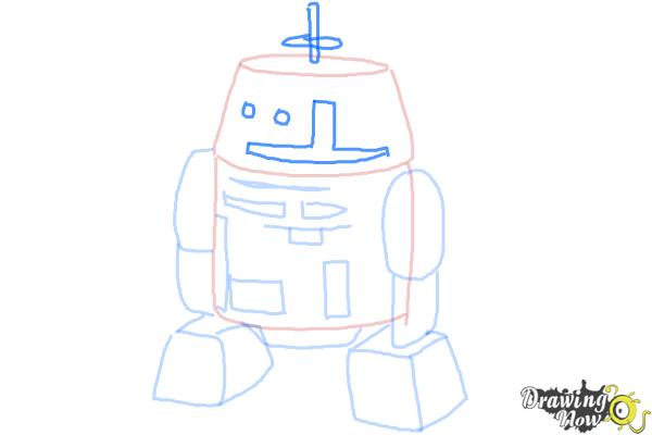 How to Draw Chopper, Grumpy Astromech Droid from Star Wars Rebels - Step 7