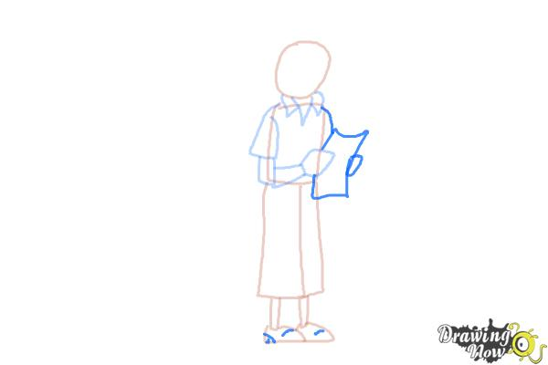 How to Draw Tintin And Snowy from The Adventures Of Tintin - Step 5