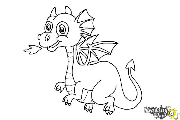 easy cartoon baby dragon