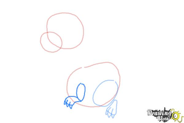 How to Draw a Cute Dragon - Step 4