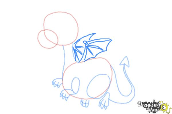 How to Draw a Cute Dragon - Step 7