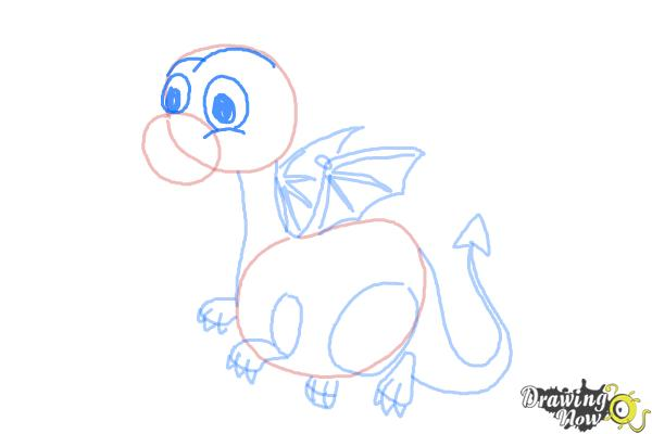 How to Draw a Cute Dragon - DrawingNow