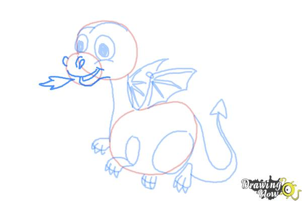 How to Draw a Cute Dragon - Step 9