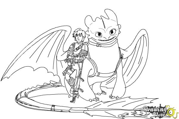Toothless Hiccup Coloring Pages