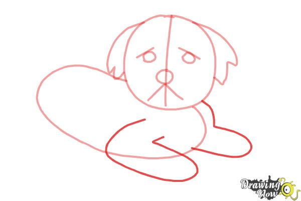 How to Draw a Furry Dog - Step 4