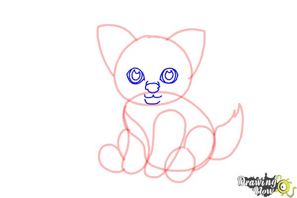 How to Draw a Baby Wolf - Step 6