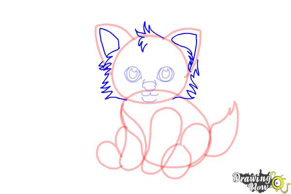 How to Draw a Baby Wolf - Step 7
