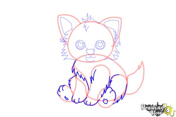 How to Draw a Baby Wolf - Step 8