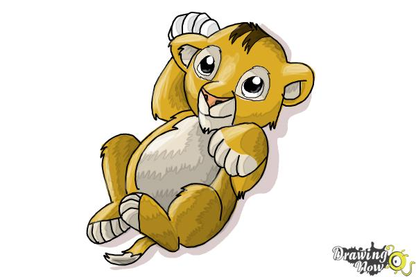 How To Draw A Baby Lion Drawingnow