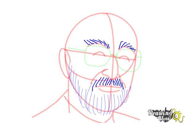 How to Draw Dr. Seuss - Step 10