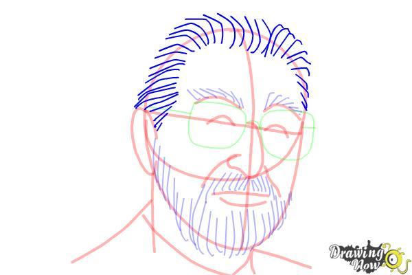 How to Draw Dr. Seuss - Step 11