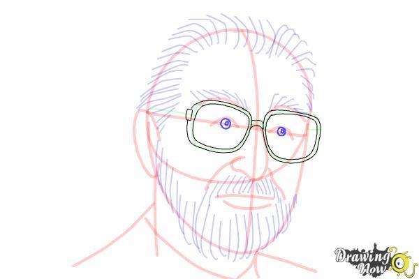 How to Draw Dr. Seuss - Step 12