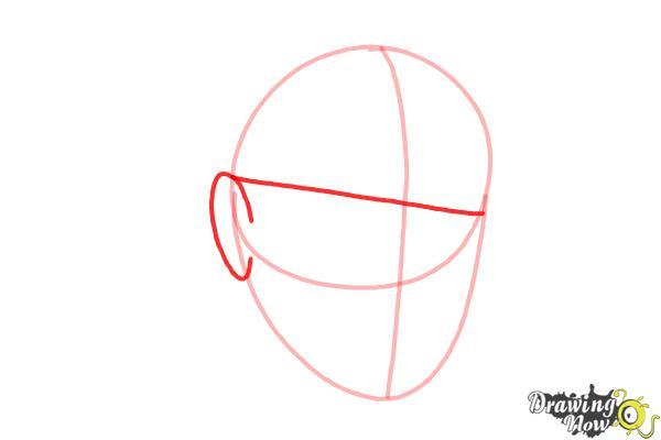 How to Draw Dr. Seuss - Step 3