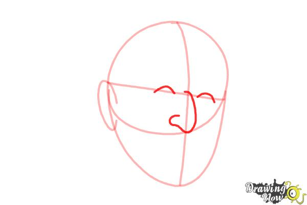 How to Draw Dr. Seuss - Step 4
