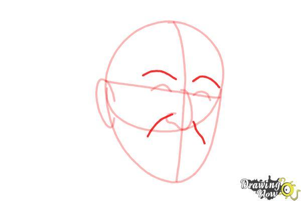 How to Draw Dr. Seuss - Step 5