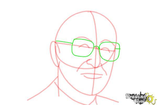How to Draw Dr. Seuss - Step 8
