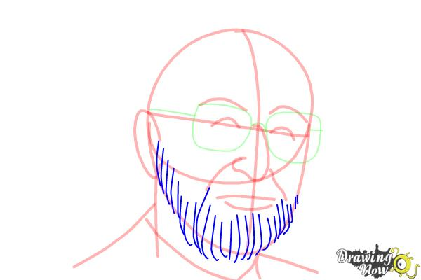 How to Draw Dr. Seuss - Step 9