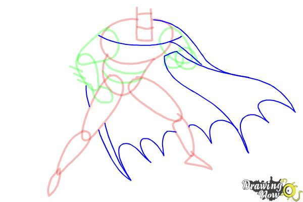 How to Draw Batman Step by Step - Step 6