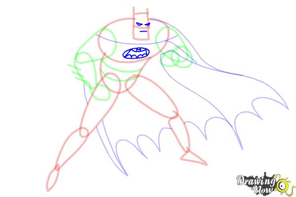 How to Draw Batman Step by Step - Step 7