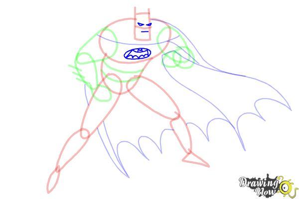 How to Draw Batman Step by Step - Step 7