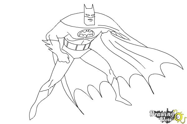 How To Draw Batman Step By Step Drawingnow