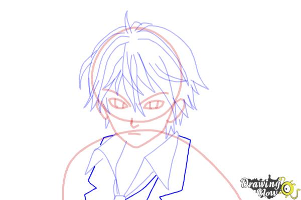 How to Draw Shu Ouma from Guilty Crown - Step 12