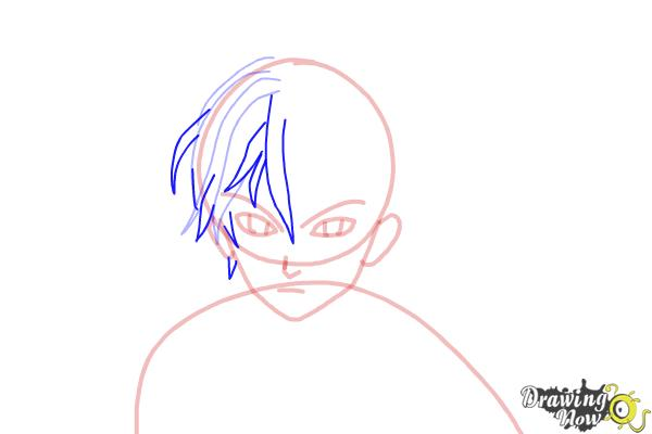 How to Draw Shu Ouma from Guilty Crown - Step 7