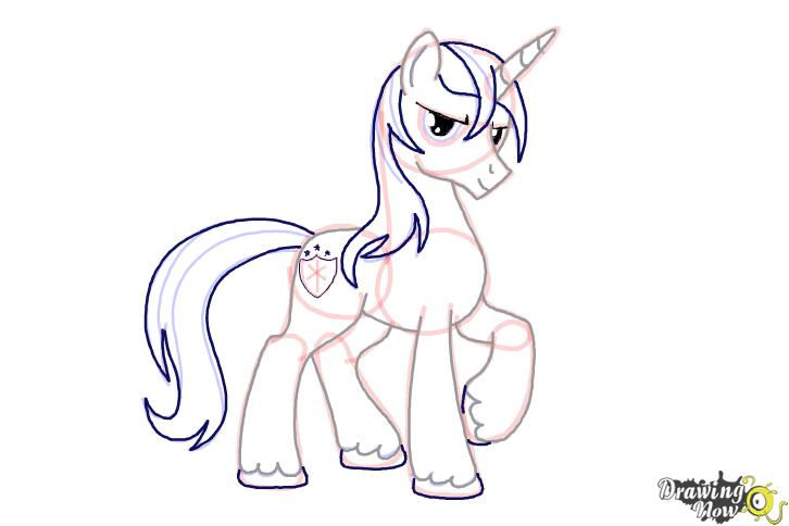 How to draw Shining Armor from My Little Pony Friendship is Magic - Step 10