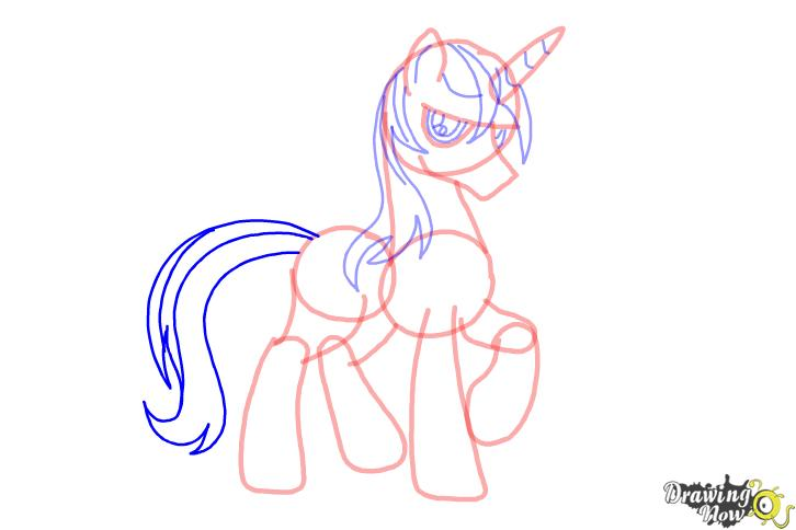 How to draw Shining Armor from My Little Pony Friendship is Magic - Step 8