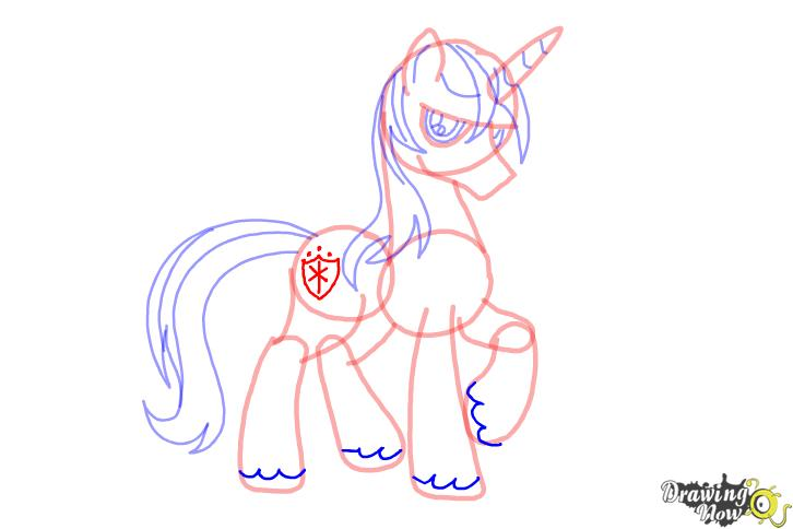 How to draw Shining Armor from My Little Pony Friendship is Magic - Step 9
