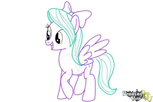 How to Draw Flitter from My Little Pony Friendship Is Magic - Step 10
