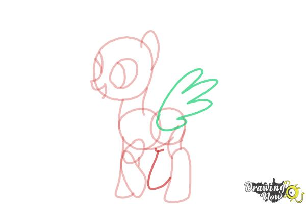 How to Draw Flitter from My Little Pony Friendship Is Magic - Step 7