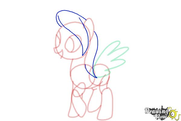 How to Draw Flitter from My Little Pony Friendship Is Magic - Step 8