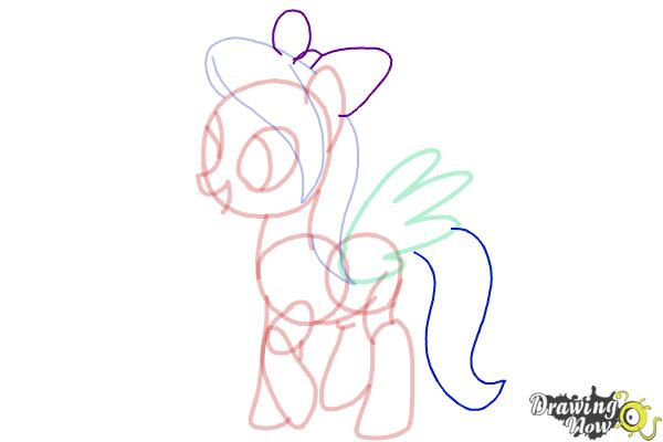 How to Draw Flitter from My Little Pony Friendship Is Magic - Step 9