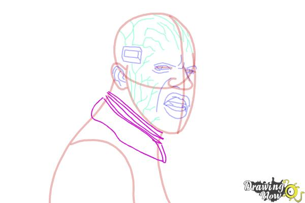 How to Draw Elektro from Spiderman 2 - Step 11