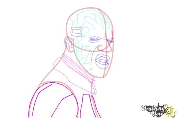 How to Draw Elektro from Spiderman 2 - Step 12