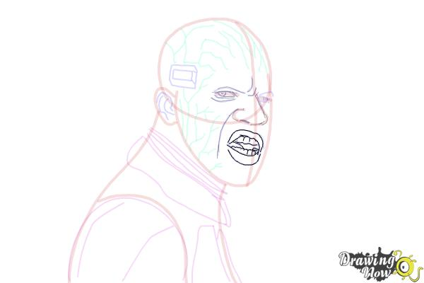 How to Draw Elektro from Spiderman 2 - Step 14