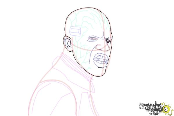 How to Draw Elektro from Spiderman 2 - Step 15