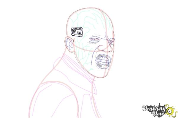 How to Draw Elektro from Spiderman 2 - Step 16