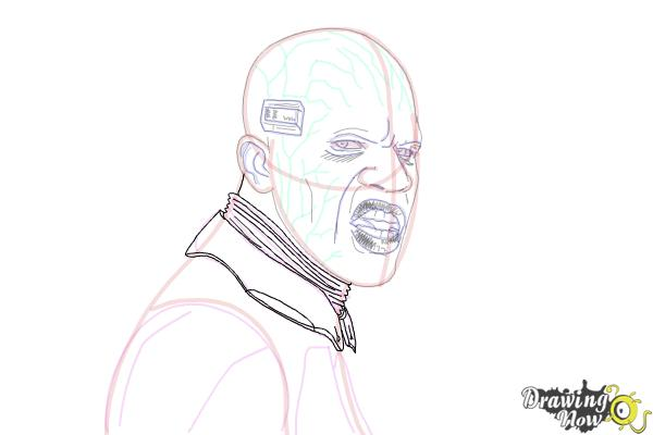 How to Draw Elektro from Spiderman 2 - Step 17