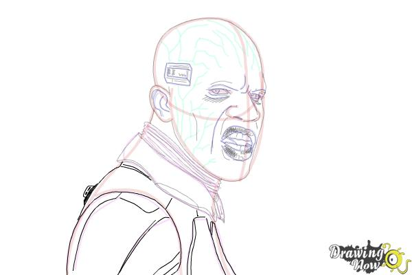 How to Draw Elektro from Spiderman 2 - Step 18