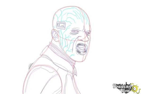 How to Draw Elektro from Spiderman 2 - Step 19