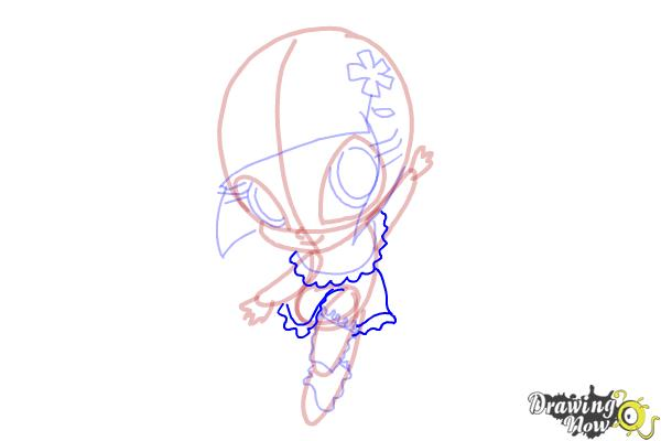 How to Draw Bloom'S Pixie, Lockette from Winx - Step 10