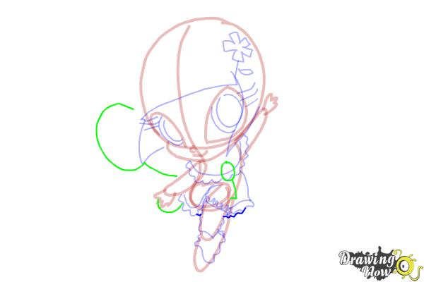 How to Draw Bloom'S Pixie, Lockette from Winx - Step 11