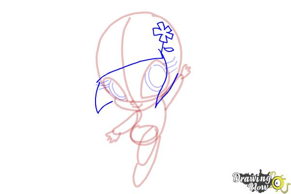 How to Draw Bloom'S Pixie, Lockette from Winx - Step 8