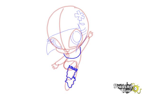 How to Draw Bloom'S Pixie, Lockette from Winx - Step 9